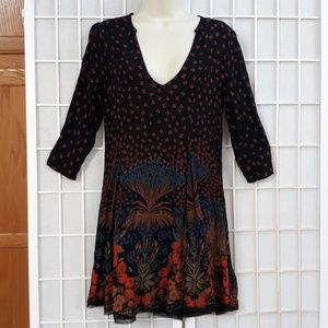 ecote ANTHROPOLOGIE Floral Boho Hippy Tunic Dress